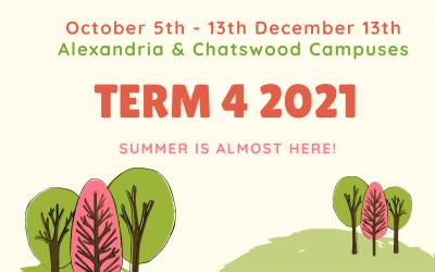 Term 4 2021 Begins 5th Oct